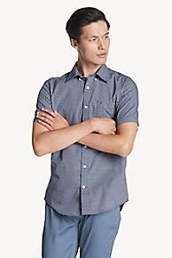 타미 힐피거 Tommy Hilfiger Custom Fit Shirt In Cotton Poplin,PEACOAT