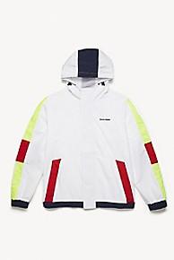 타미 힐피거 Tommy Hilfiger Hooded Yacht Jacket,WHITE/BLUE/RED/GREEN/YELLOW