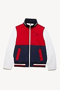타미 힐피거 Tommy Hilfiger Colorblock Yacht Jacket,RED/NAVY/WHITE
