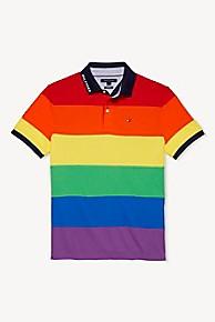 타미 힐피거 Tommy Hilfiger Colorblock Rainbow Polo,MULTI