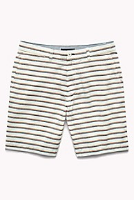 타미 힐피거 Tommy Hilfiger Stripe Club Short,SNOW WHITE