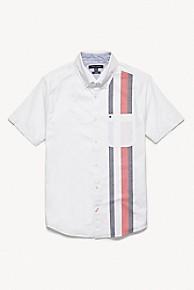 타미 힐피거 Tommy Hilfiger Stripe Shirt In Cotton,BRIGHT WHITE
