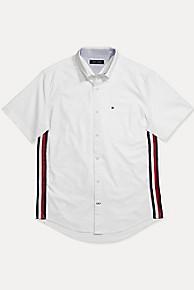 타미 힐피거 Tommy Hilfiger Stripe Shirt In Stretch Cotton,BRIGHT WHITE