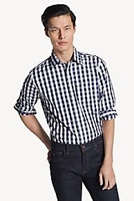 타미 힐피거 Tommy Hilfiger Custom Fit Shirt In Classic Cotton,PEACOAT