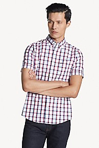 타미 힐피거 Tommy Hilfiger Slim Fit Shirt In Stretch Cotton,APPLE RED