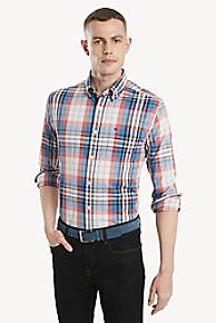 타미 힐피거 Tommy Hilfiger Custom Fit Shirt In Stretch Cotton,SPICED CORAL