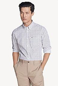 타미 힐피거 Tommy Hilfiger Slim Fit Shirt In Stretch Cotton,BRIGHT WHITE