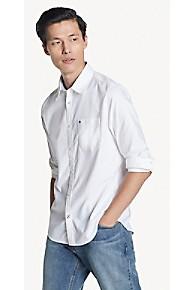 타미 힐피거 Tommy Hilfiger Slim Fit Shirt In Stretch Cotton