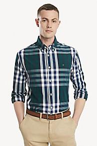 타미 힐피거 Tommy Hilfiger Classic Fit Shirt In Cotton Poplin,BOTANICAL GARDEN