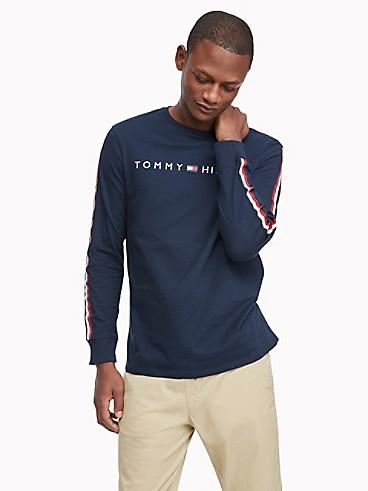타미 힐피거 Tommy Hilfiger Essential Long-Sleeve Stripe T-Shirt