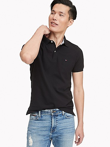 타미 힐피거 폴로 반팔티 Tommy Hilfiger Slim Fit Essential Solid Stretch Polo