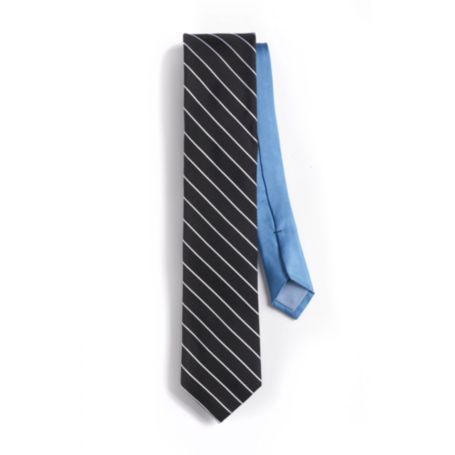 Image for SLIM FIT BLACK STRIPE TIE from Tommy Hilfiger USA