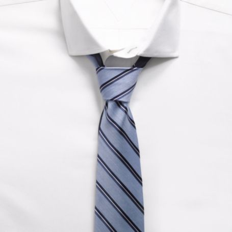 Image for CHAMBRAY STRIPE SLIM TIE from Tommy Hilfiger USA