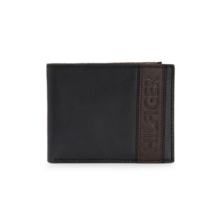 Image for LEATHER TWO-TONE PASSCASE from Tommy Hilfiger USA