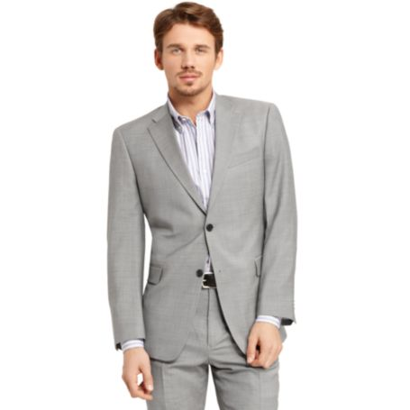 Image for LIGHT GREY SHARKSKIN SUIT JACKET from Tommy Hilfiger USA