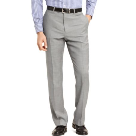 Image for LIGHT GRAY SHARKSKIN SUIT PANT from Tommy Hilfiger USA