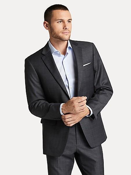타미 힐피거 체크 셋업 자켓 Tommy Hilfiger Regular Fit Essential Check Blazer,GREY SHARKSKIN WINDOWPANE