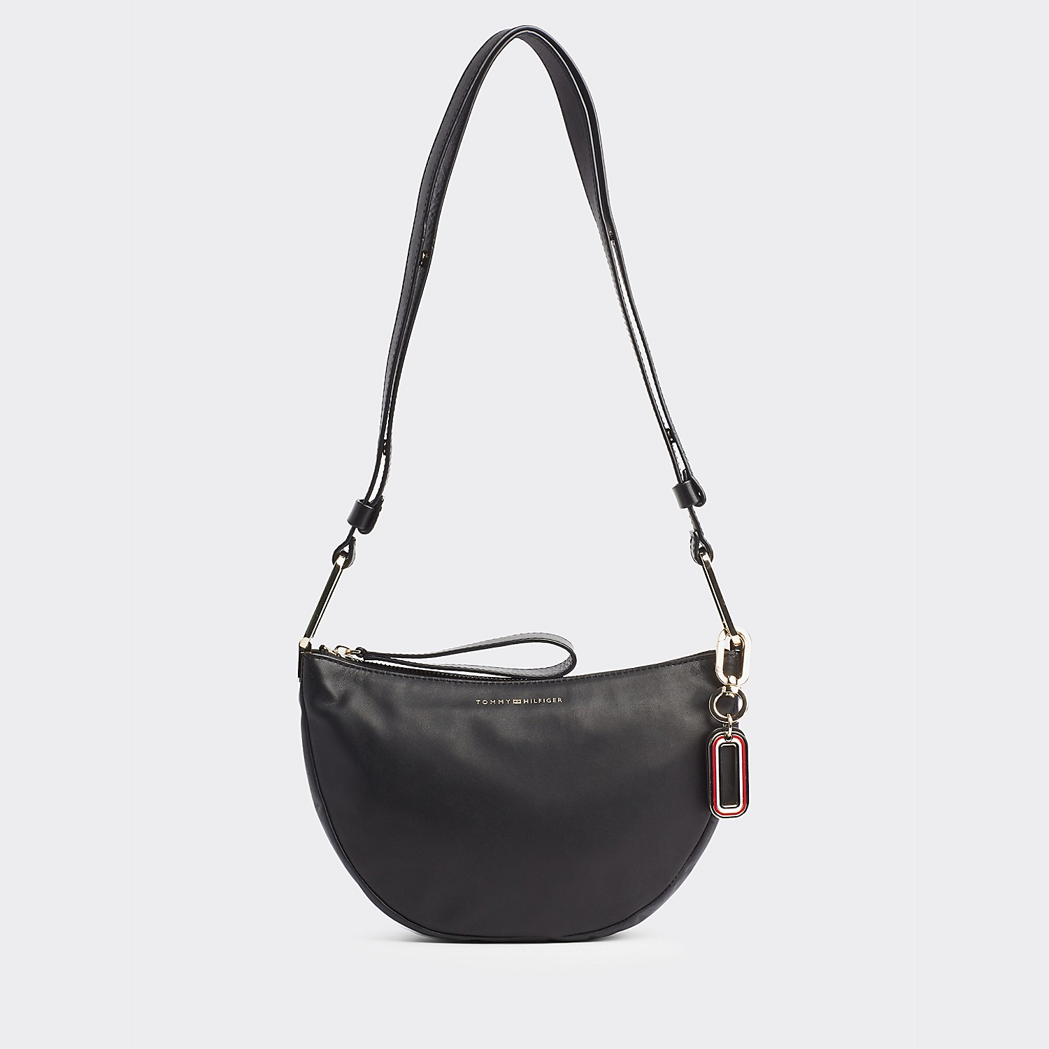 Tommy hilfiger Leather Hobo Crossbody Bag
