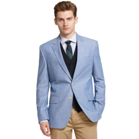 Image for BLUE CHAMBRAY BLAZER from Tommy Hilfiger USA