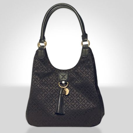 Image for TH SIGNATURE JACQUARD TOTE WITH TASSEL from Tommy Hilfiger USA