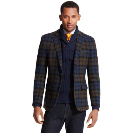 Image for SHETLAND PLAID BLAZER from Tommy Hilfiger USA