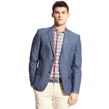 Image for SOLID COTTON BLAZER from Tommy Hilfiger USA