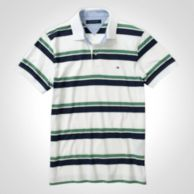 Slim Fit Striped Jersey Polo $19.97
