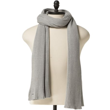 Tommy Hilfiger Hilfiger Denim Ribbed Scarf - Light Grey Heather - Os