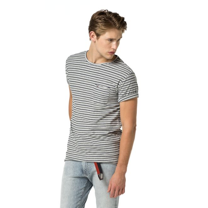 Image for COTTON AND LINEN STRIPE TEE from Tommy Hilfiger
