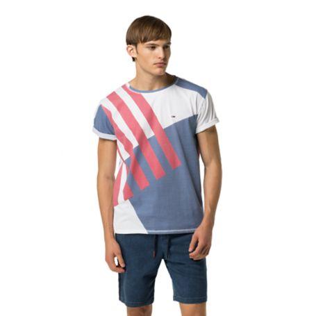 Tommy Hilfiger Bold Stripe Mesh Cotton Shirt - Classic White - S