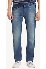 타미 힐피거 스트레이트핏 청바지 Tommy Hilfiger Faded Indigo Straight Fit Jean,BERRY MID BLUE COMFORT