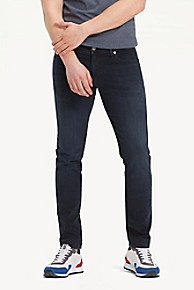 타미 힐피거 Tommy Hilfiger Black Skinny Fit Jean,COBBLE BLACK COMFORT