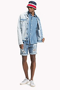 타미 힐피거 워싱 데님 자켓 Tommy Hilfiger Tommy Jeans XPLORE Acid Wash Jean Jacket,BOURBON LIGHT RIGID