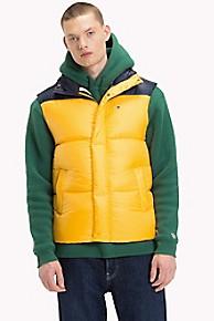 타미 힐피거 조끼 옐로우 Tommy Hilfiger Tommy Classics Vest,SPECTRA YELLOW / BLACK IRIS