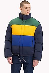 타미 힐피거 오버사이즈 패딩 Tommy Hilfiger Oversized Insulated Jacket,BLACK IRIS / MULTI