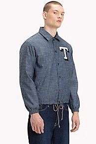타미 힐피거 청자켓 Tommy Hilfiger Denim COACH Jacket,TOMMY CAMPUS DARK BLUE RIGID