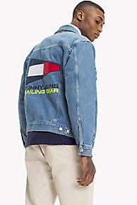 타미 힐피거 Tommy Hilfiger Capsule Collection Logo Jean Jacket,MID BLUE DENIM