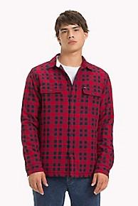 타미 힐피거 Tommy Hilfiger Padded Check Shirt,SAMBA / BLACK IRIS
