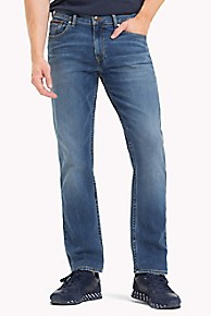타미 힐피거 Tommy Hilfiger Medium Blue Straight Fit Jean,MID WASH BLUE