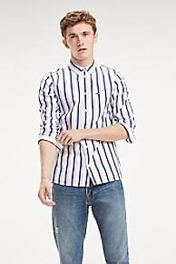 타미 힐피거 Tommy Hilfiger Tommy Classics Stripe Shirt,CLASSIC WHITE / MULTI