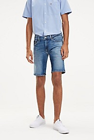 타미 힐피거 Tommy Hilfiger Vintage Slim Fit Short,MID BLUE WASH