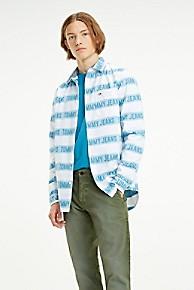 타미 힐피거 Tommy Hilfiger Signature Stripe Shirt,CLASSIC WHITE / BLUE