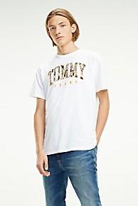 타미 힐피거 Tommy Hilfiger Tommy Logo Print T-Shirt,CLASSIC WHITE