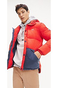 타미 힐피거 Tommy Hilfiger Tommy Classics Puffer Jacket,RACING RED