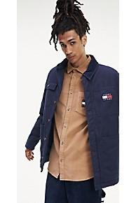 타미 힐피거 Tommy Hilfiger Rugged Twill Workwear Jacket,BLACK IRIS