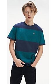 타미 힐피거 Tommy Hilfiger Bold Stripe T-Shirt,ATLANTIC DEEP / BLACK IRIS