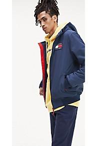 타미 힐피거 Tommy Hilfiger Fleece-Lined Hooded Jacket,BLACK IRIS