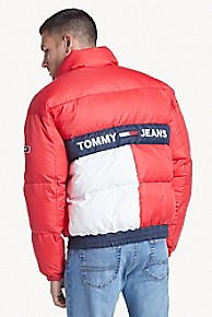 타미 힐피거 Tommy Hilfiger Reversible Flag Puffer,BLACK IRIS / MULTI