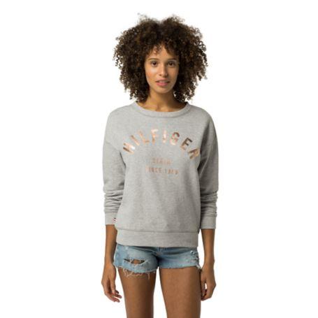 Tommy Hilfiger Signature Sweatshirt - Light Grey Htr