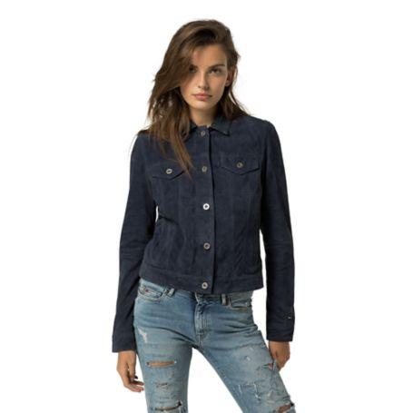 Tommy Hilfiger Suede Jeans Jacket - Blue Depths - S